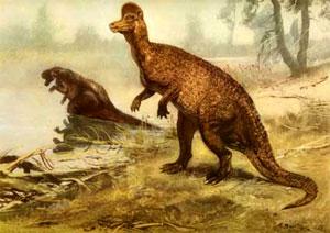 Самые экспрессивные палеонтологические иллюстрации были созданы Зденеком Бурианом более семидесяти лет назад; стех пор изменились детали реконструкций, но мир динозавров всё так же восхищает нас. Картина З.Буриана с сайта zburian.narod.ru
